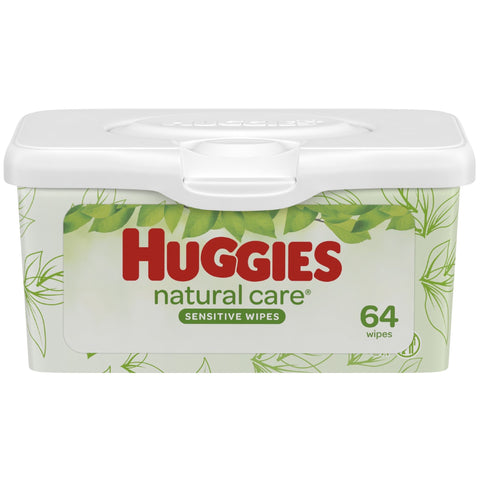Huggies Natural Care Sensitive Wipes, 64 count