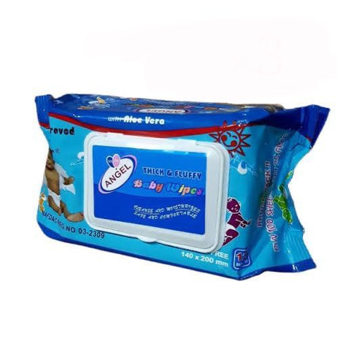 Angel Baby Wipes With Aloe Vera - 125 Wipes