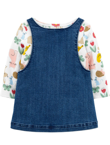 Carters Baby 3-Piece Floral Tee & Shortall Set