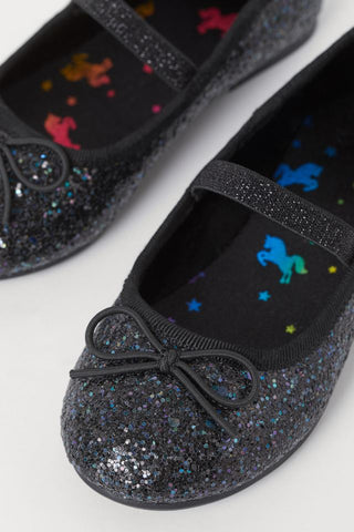 H&M Glitter Unicorn Shoe - Black