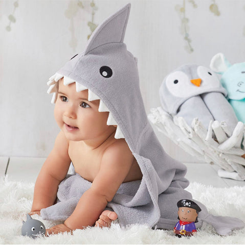 Shark Baby Hooded Towel