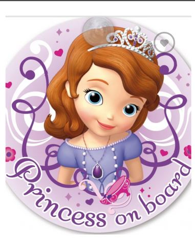 Princess Sofia ' Baby on Board""