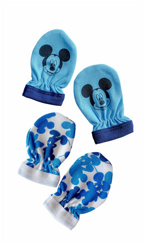 Disney Baby Mickey Mouse Mitts- Blue