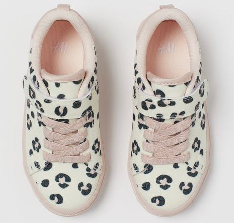 Leopard Print Girls Sneakers