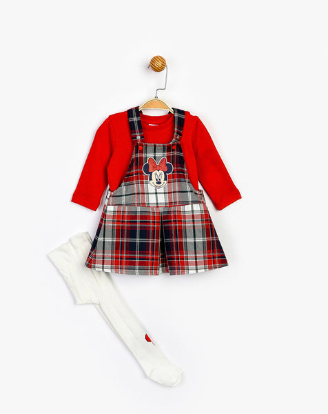 Minnie Mouse Plaid Romper & Top Set