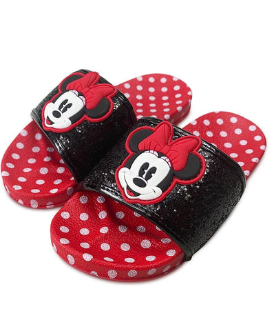 Minnie Mouse Polka Dot Slides for Girls