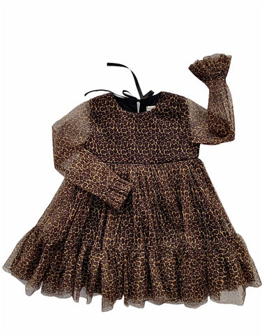 Animal Tier Dress - Leopard