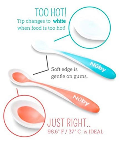 Nuby 3-Pack Hot Safe Feeding Spoons