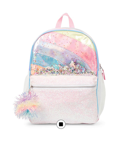 Girls Shakey Rainbow Backpack