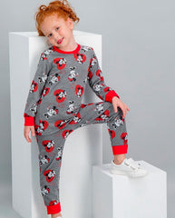 Minnie Mouse Girls Jammies - Grey