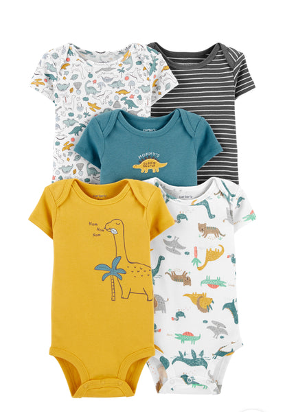 5-Pack Dinosaur Original Bodysuits