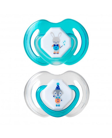 Nuby Day & Night Baby Soother 0-6 Months - Blue