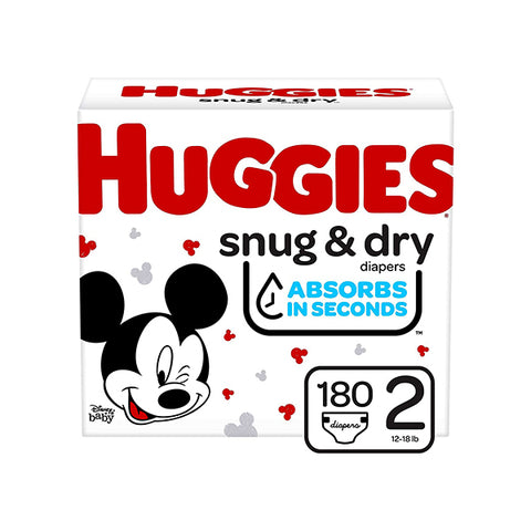 Huggies snug & dry 2 (180 counts)