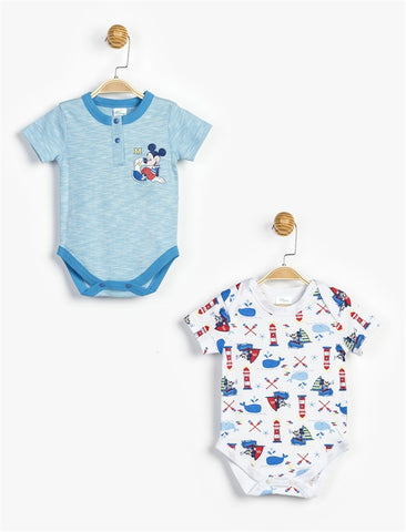 Mickey Mouse Bodysuits 2 Pack - 12787