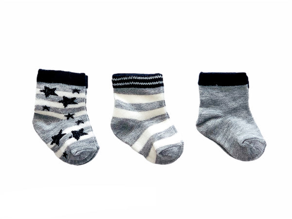 Mungan 3-Pack Socks - Star