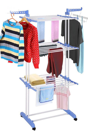 3 Tier Movable & Foldable Cloth Drying Hanger