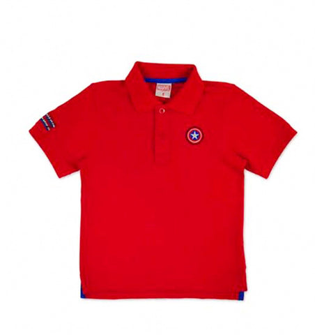 Marvel Avengers Boys Polo Shirt - Red