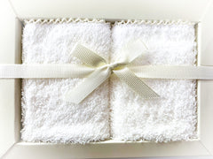 Caramell 2 Pack Face Towel - White