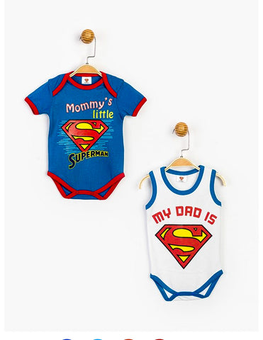 SuperMan 2PC Bodysuits - 15553