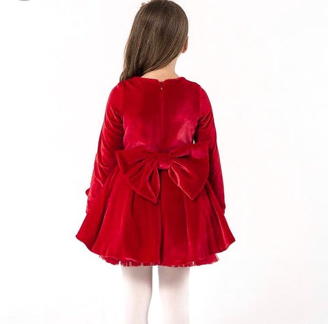 Princess Pamina Velvety Dress - Red