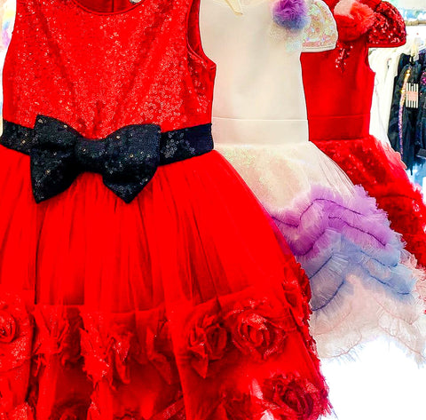 Princess Bow-Tastic Pamina Dress - Red