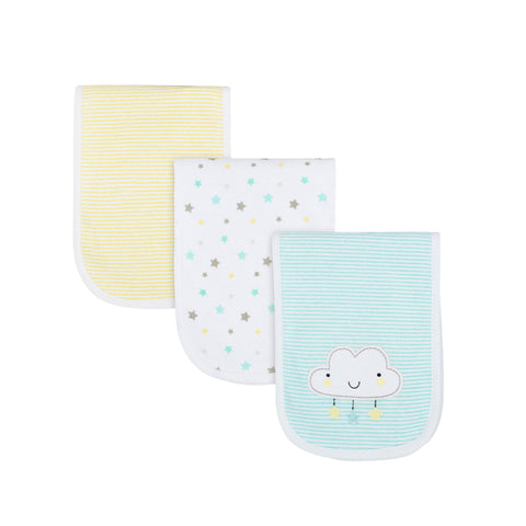 Gerber 3-pack Neutral Terry Burp Cloth - Cloud