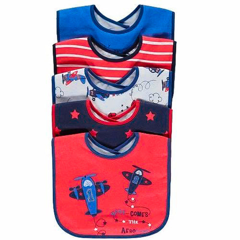 George 5pack Baby Bibs - Red