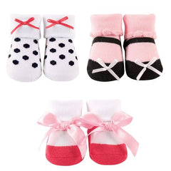 Luvable Friends 3Pack Booties - Polka