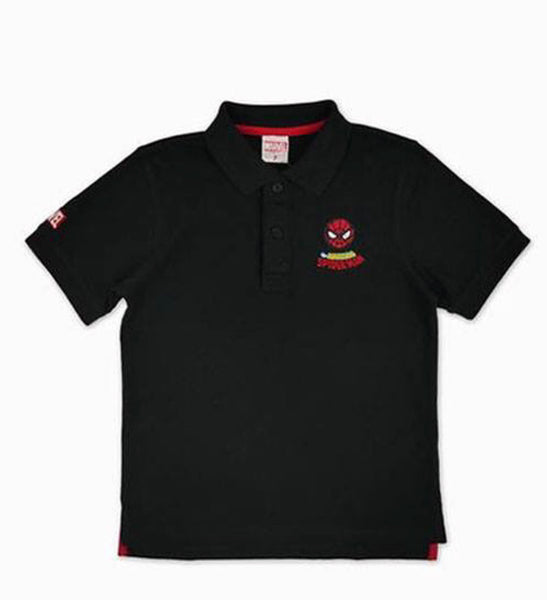 Marvel Avengers Boys Polo Shirt - Black