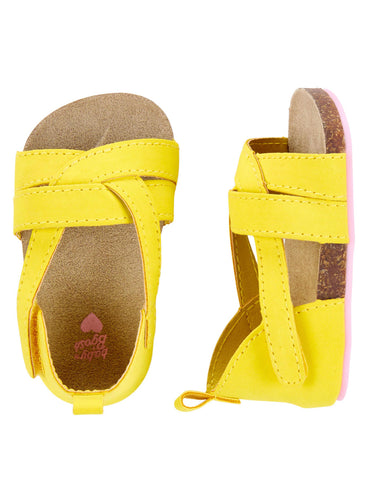 OshKosh Yellow Sandal Crib Shoes