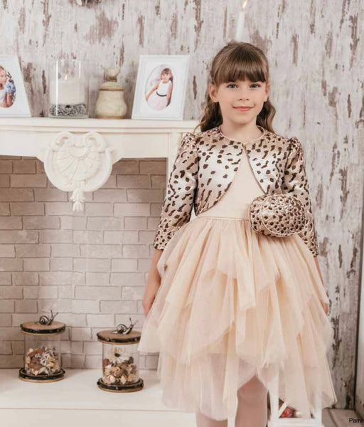 Princess Animal Print Tiered Dress - 3PCS