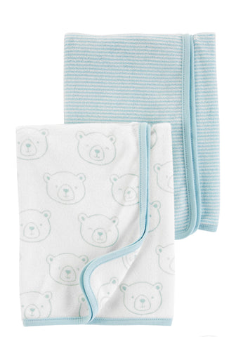 2-Pack Baby Towels - Blue