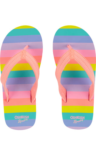 OshKosh Rainbow Stripe Flip Flops