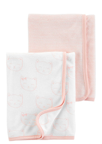 2-Pack Baby Towels - Pink