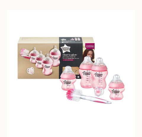 Tommee Tippee Closer To Nature Newborn Starter Set - Pink