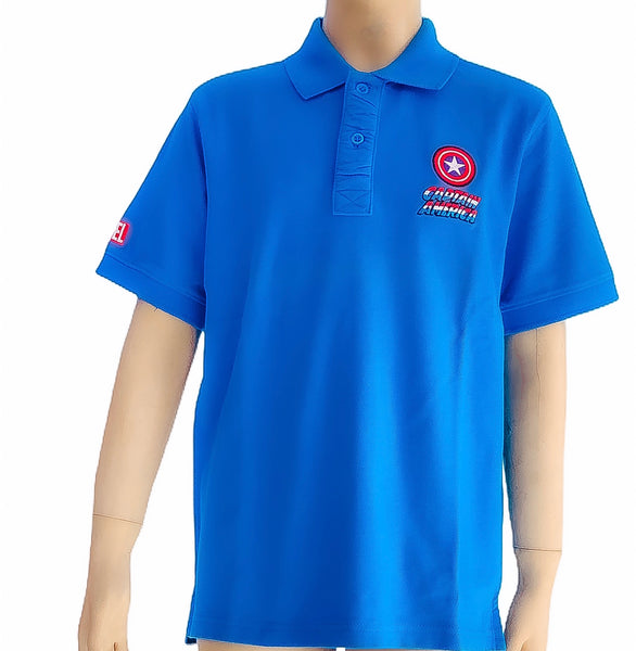 Marvel Avengers Boys Polo Shirt - Blue