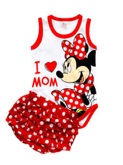 Minnie Mouse Bodysuit & Bloomer Short - 15631