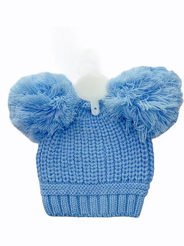 Soft Touch Pom Pom Knitted Hat