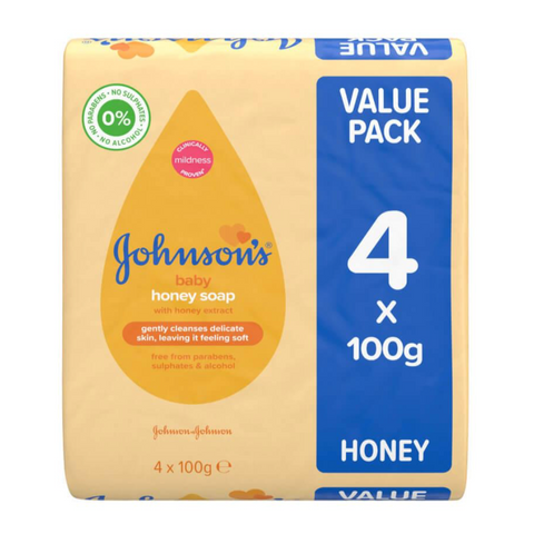 Johnson's Baby Honey Soap - 4 Packs