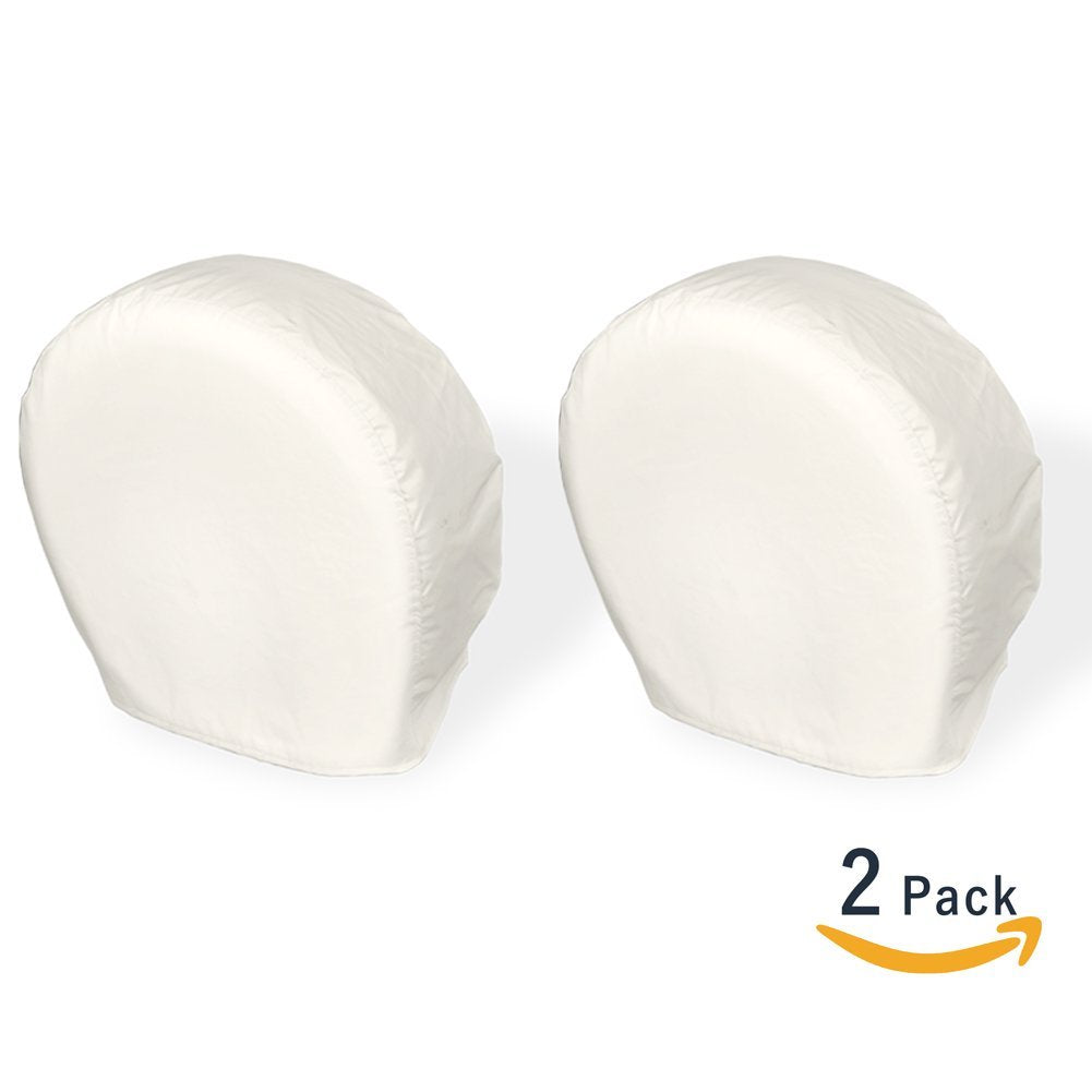 Explore Land Universal Fit Tire Cover White, 2 Pack