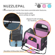 NUZZLEPAL Airline Approve Pet Carrier Foldable Soft Side Travel Dog & Cat Bag with Removable Fleece Mat