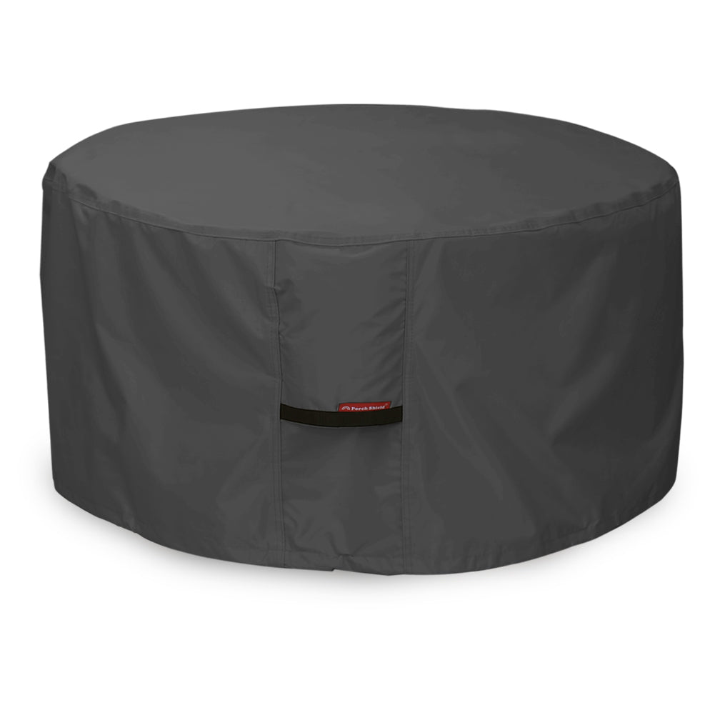 Porch Shield 100% Waterproof Heavy Duty Patio Round Fire Pit/Table Cover Black