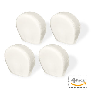 Explore Land Tire Cover for Jeep Truck SUV Trailer Camper RV Wheel Off-white, 4 Pack