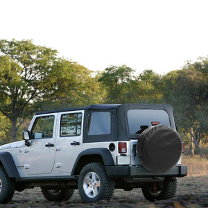 Explore Land Tough Vinyl Spare Tire Cover Universal Fit for Jeep Trailer RV SUV Truck