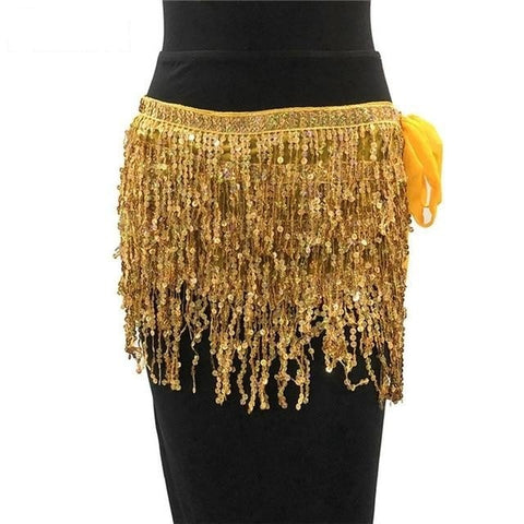 Festival Queen - Elegant Sparkling Sequined A Line Tassel Mini Skirt
