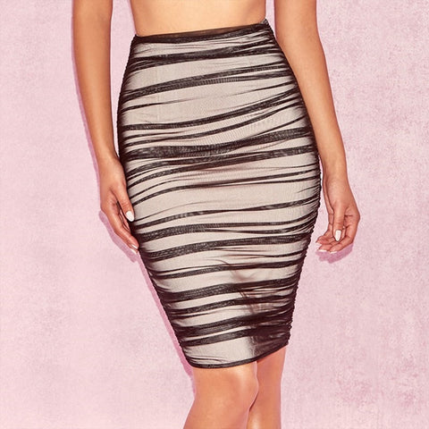 Sexy Draped Bodycon Skirt