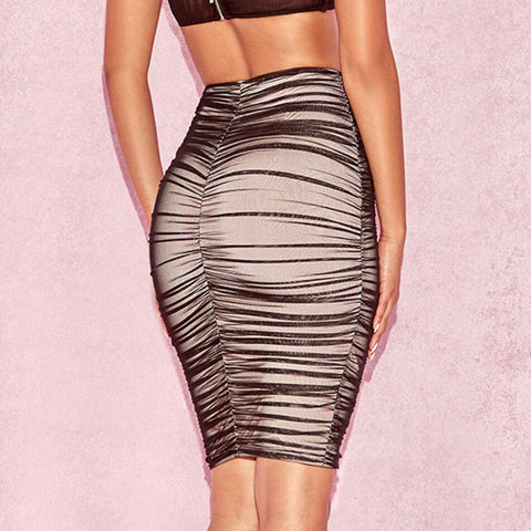 Image of Sexy Draped Bodycon Skirt