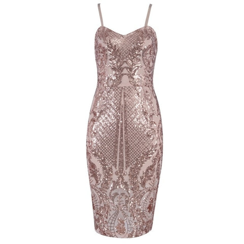Nevidza - Stunning Sparkling Sequined Celebrity Evening Party Dress