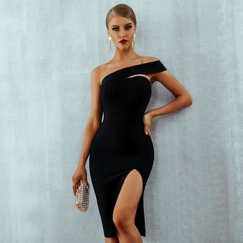 Vigasso - Stunning One Shoulder Evening Dress
