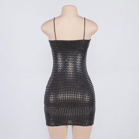 Stunning Sparkling Sequined Mini Bodycon Dress